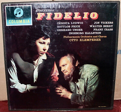 COLUMBIA UK 3-LPs SAX 2451-3: BEETHOVEN - Fidelio - KLEMPERER, Ludwig - 1962 UK