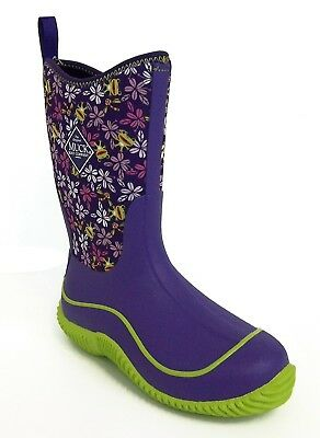 Muck Boot Kid's Hale Rubber and Neoprene Boot Purple Frogs