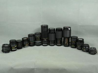 Lot of 14 Pentax Mount 35mm Film SLR Lenses, 50mm, 28-85mm, 35-80mm, 70-210mm