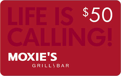 Moxies Gift Card- $50 Mail Delivery