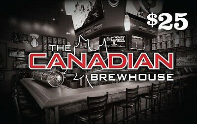 Canadian Brewhouse Gift Card - $25 Mail Delivery