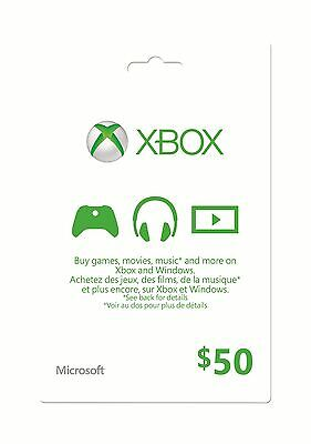 Xbox Gift Card - $50 Mail Delivery