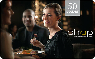 Chop Restaurant Gift Card- $50 Mail Delivery