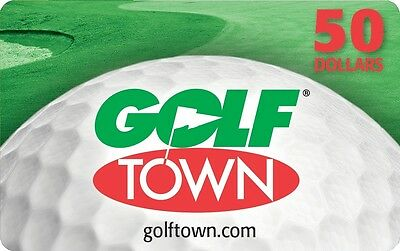Golftown Gift Card - $50 Mail Delivery