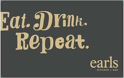 Earls Restaurant Gift Card - $100 Mail Delivery