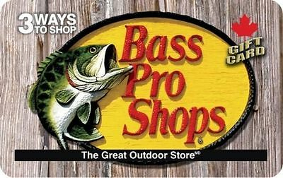 Bass Pro Gift Card- $50 Mail Delivery