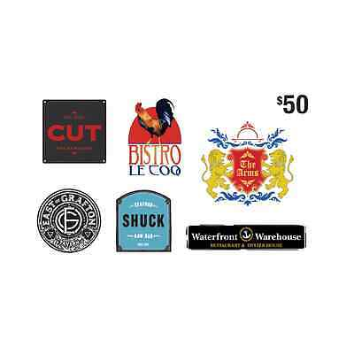 RCR Hospitality Group Gift Card - $50 Mail Delivery