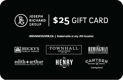 Joseph Richard Group Gift Card - $25 Mail Delivery