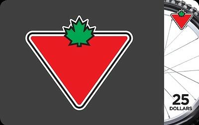 Canadian Tire Gift Card - $25 Mail Delivery