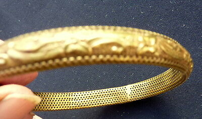 Attractive Art Deco Pinchbeck Bangle