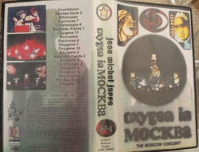 "Jean Michel Jarre ""oxygene In Moscow"" Rare Vhs + Digital Copy / Warrior Video"