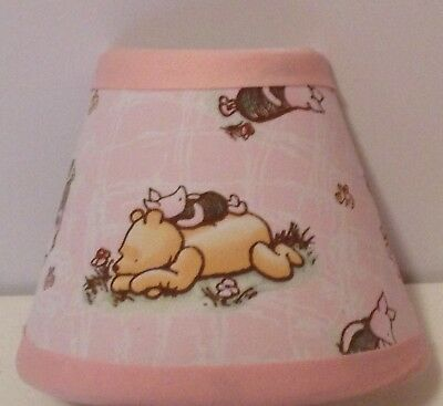 Classic Winnie the Pooh Pink Fabric Nursery Night Light