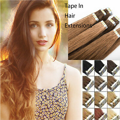 Brazilian 14''-24''20pc Mixed Tape in Hair Extensions 100% Remy Human