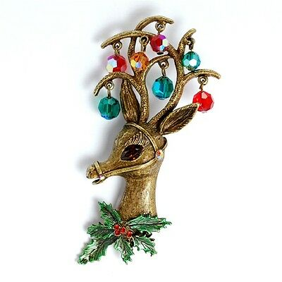 New Sweet Romance Merry Reindeer Christmas Pin  ~~Made In Usa~~