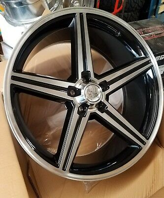 22 Inch Iroc Black And Machined Wheels 5x12065 12mm Chevy Gm 5x4