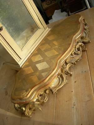 Antique French 19th Century gilded gesso on wood plinth socle