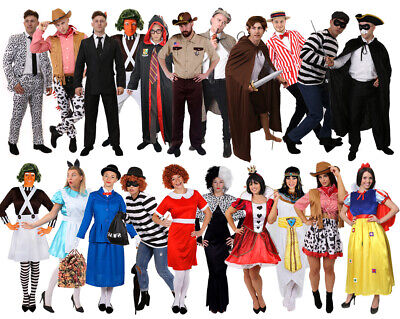 Mens Womens World Book Day Week Character Costume Fancy Dress Choose From Lot