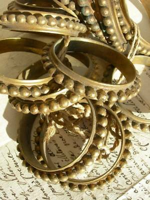 Set 12 antique French 19th Century gilded bronze curtain rings