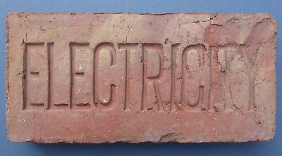 Interesting Vintage Electricity Brick 1930s-1950s Architectural Salvage