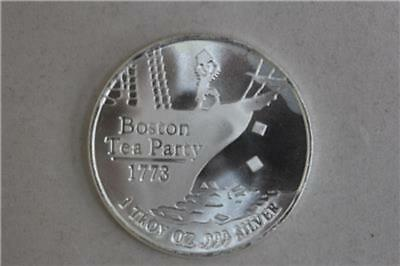 Independent Living 1 oz Silver Round - Don't Tread On Me / Boston Tea Party 1773