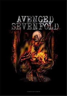 "AVENGED SEVENFOLD  Rock flag/ Tapestry/ Fabric Poster  A7X ""Fire Bat"" NEW"