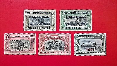 1916-21   Belgian Congo - German East Africa occupation stamps