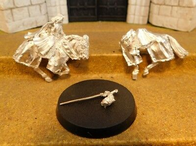 ARAGORN KING OF GONDOR MOUNTED - Lord Of The Rings Metal Figure(s)