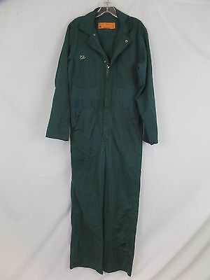 Red Kap Durable Leisure Jumpsuit One Piece Mens Coveralls Green Size 38R 38x33