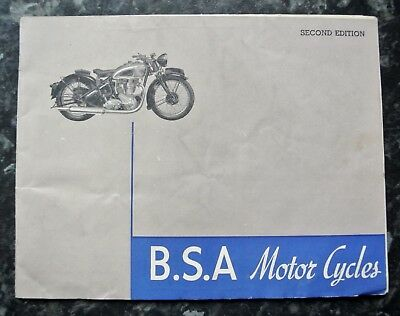 A BSA 1938 Motorcycle catalogue