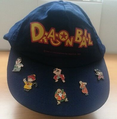 Gorra + Pines Bola de dragon Originales, cap + pins Dragon Ball Originals 1989