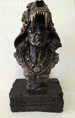 Large Native American Indian Bust Statue Sculpture - WE SHIP WORLDWIDE- AWESOME!