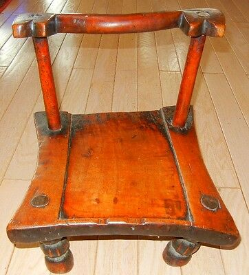 African King Stool from the Grebo Nation, Liberia, West Africa with Provenance