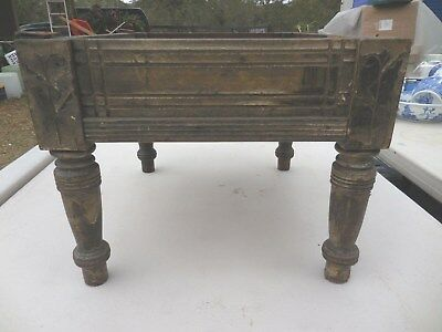 Vintage Shabby Carved Wood Foot Stool Wooden Footstool Frame Project Craft