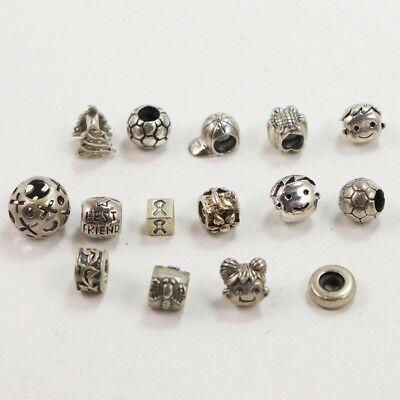 VTG Sterling Silver - Lot of 15 Assorted Bead Charm Pendants NOT SCRAP - 23g
