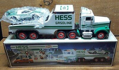1991 Hess Toy Truck And Racer~ Hess Racer~~ New In Box~Case Fresh~Tested