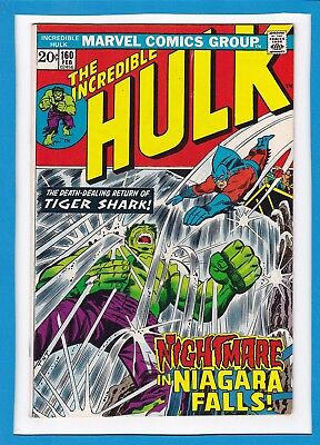 Incredible Hulk #160_February 1973_Very Fine_Tiger Shark_Bronze Age Marvel!