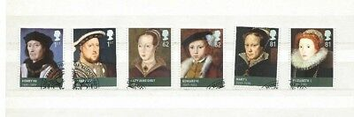 2009 KINGS & QUEENS (2nd SERIES) THE TUDOR'S SET FINE USED SG2924-2929