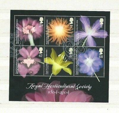 2004 Bicentenary Of The Royal Horticultural Society Minisheet Fine Used Ms2462