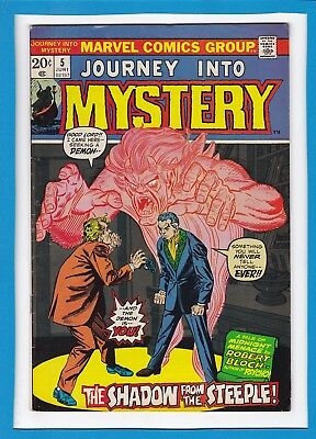 """Journey Into Mystery #5_June 1973_Vf Minus_""""shadow From The Steeple""""_Bronze Age!"""