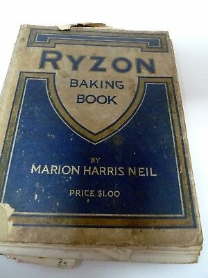 1918 Ryzon Baking Book with Multiple Hand Written Old Recipes from the 1920s
