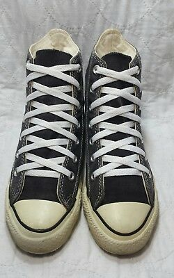 Converse all star hi made in USA black and white condition size 5.5 men's