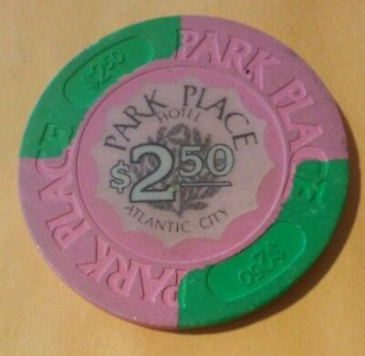 Park Place Casino Atlantic City $2.50 Gaming Chip Great For Any Collection!