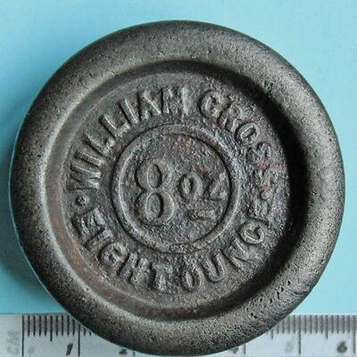 Iron 8 ounce weight, William Cross