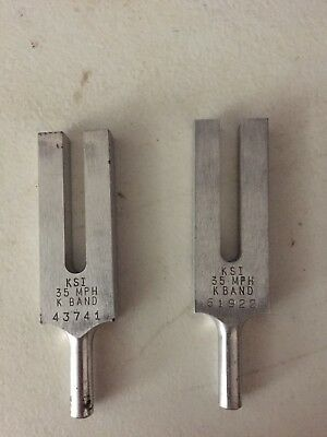 (2) KSI 35mph K band Tuning forks with case