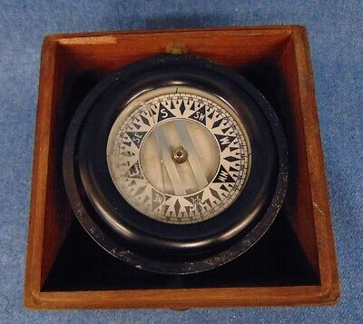 Wilcox Crittenden B376 Brass Dovetailed Box Compass CLEAN!