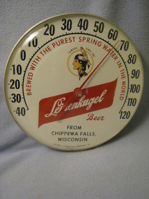 Vintage Leinenkugel's Beer Bubble Thermometer Excellent Condition Advertising