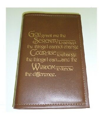 Alcoholics Culver BBR01 AA Big Book Hardbook BURGUNDY book cover Serenity Prayer