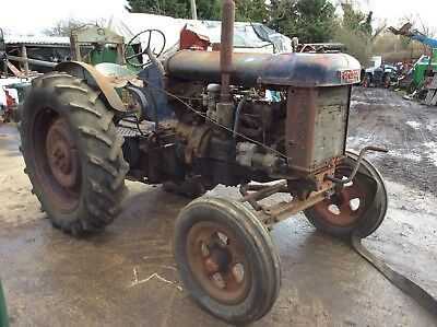 Fordson E27N Major Vintage Classic Antique Tractor Steam Rally Show Ploughing