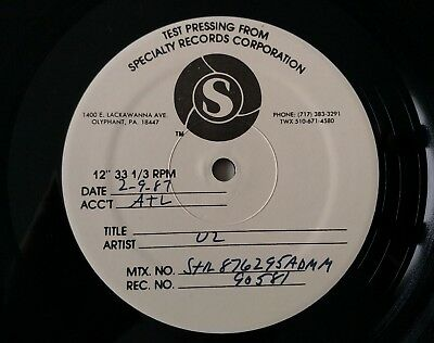 U2 Very Rare The Joshua Tree US Test Pressing On Speciality Records