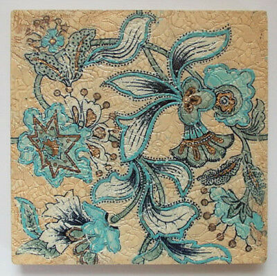 Very Rare Antique TILE DOULTON LAMBETH CHINE Design Registered 1890 Super!